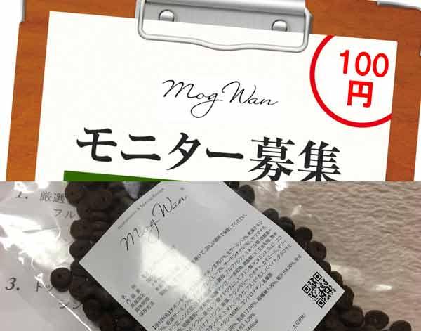 モグワン100円モニターはサンプル